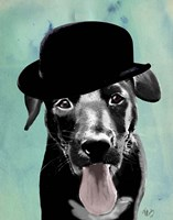 Black Labrador in Bowler Hat Fine-Art Print