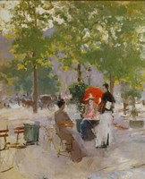 Open-air Parisian Cafe Fine-Art Print