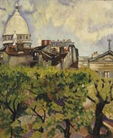 Sacre-Coeur Seen from the Garden of Rue Cortot, 1916 Fine-Art Print