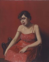 Romanian in a Red Dress, 1924 Fine-Art Print