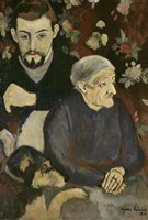 Utrillo with his Grandmother and Dog, 1910 Fine-Art Print