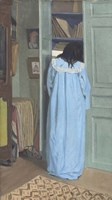 Woman in Blue Searching a Cabinet, 1903 Fine-Art Print