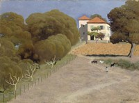 House with Red Roof, 1924 Fine-Art Print