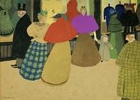 Les Passants Street Scene, 1895 Fine-Art Print