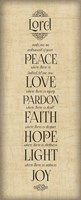 Bible Verse Panel IV (Instrument of Peace) Fine-Art Print