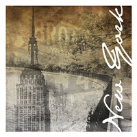 New York Gold Fine-Art Print