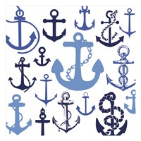 Nautical Set Blues Fine-Art Print