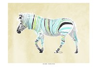 Zebra Teal Greens Fine-Art Print