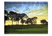 Golf Course Painted Border Fine-Art Print
