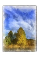 Trees Watercolor Border Fine-Art Print