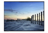 Sand Sunset Fence Border Fine-Art Print