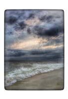 Beach Sunset Watercolor Border Fine-Art Print