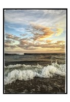 Crashing Waves With Warm Sky Fine-Art Print
