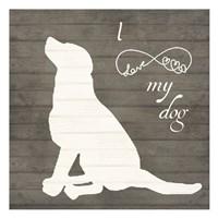 Love My Dog 2 Fine-Art Print