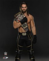 Seth Rollins with the WWE Championship Belt 2015 Fine-Art Print