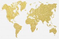Gold Map Fine-Art Print
