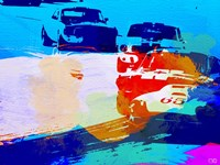 Mustang On The Race Track Watercolor Fine-Art Print