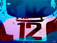Racing Number 12 Watercolor Fine-Art Print
