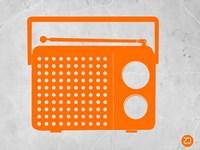 Orange Transistor Radio Fine-Art Print