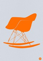 Orange Eames Rocking Chair Fine-Art Print