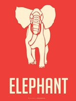 Elephant White Fine-Art Print