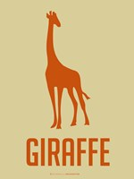 Giraffe Orange Fine-Art Print