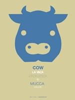 Blue Cow Multilingual Fine-Art Print