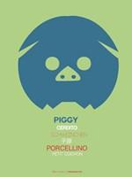 Blue Piggy Multilingual Fine-Art Print