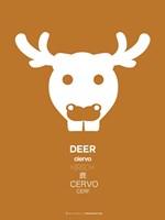 White Moose Multilingual Fine-Art Print