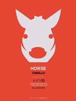 White Horse Multilingual Fine-Art Print