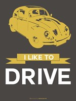 I Like to Drive Beetle 1 Fine-Art Print