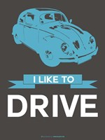 I Like to Drive Beetle 3 Fine-Art Print