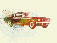 Ford Mustang Watercolor Fine-Art Print