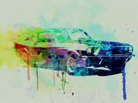 Ford Mustang Watercolor 2 Fine-Art Print