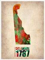 Delaware Watercolor Map Fine-Art Print