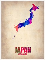 Japan Watercolor Map Fine-Art Print