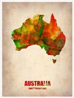 Australia Watercolor Map Fine-Art Print