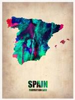 Spain Watercolor Map Fine-Art Print