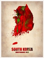 South Korea Watercolor Map Fine-Art Print
