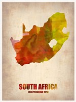 South African Map Fine-Art Print