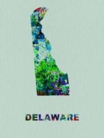 Delaware Color Splatter Map Fine-Art Print