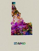 Idaho Color Splatter Map Fine-Art Print