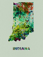 Indiana Color Splatter Map Fine-Art Print