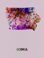 Iowa Color Splatter Map Fine-Art Print