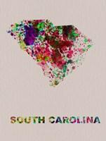 South Carolina Color Splatter Map Fine-Art Print