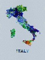 Italy Color Splatter Map Fine-Art Print