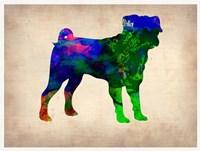 Pug Watercolor Fine-Art Print