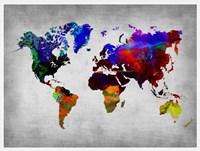 World Watercolor Map 12 Fine-Art Print