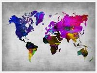 World Watercolor Map 13 Fine-Art Print