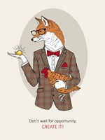 Fox Man In Pin Suit Fine-Art Print
